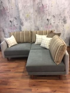 Three fully standalone seat modules measuring 81 cm x 81 cm with 10 cm removable arms/backs. As shown they create a small corner 182 cm x 172 cm. May also be changed into a three seat sofa measuring 263 cm x 81 cm. Small Corner, Sofas, Arms, Couch, Create, Furniture, Home Decor, Chair, Homemade Home Decor