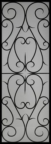 Wrought Iron Door Insert - Arabia 22x64