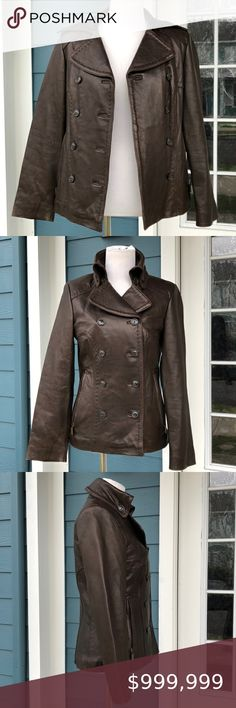 Pristine Leather Mens Genuine Lambskin Leather Black Blazer Coat Jacket MB-68