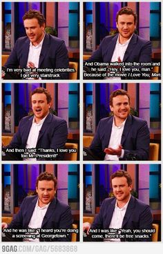 Awkward Jason Segel lol