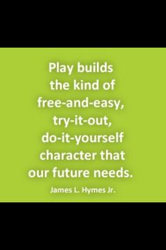 Play, the most POWERFUL, NATURAL learning ability nature gave us. Why f*#k it up with systems that break it down?? Control? Measurability? Convenience? Lack of imagination? Great teachers help children to grow beyond the box of the teacher.
