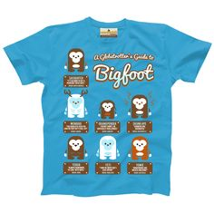 b54c6dacf A Globetrotter's Guide to Bigfoot — Youth T-shirt – Little Bay Root. Did