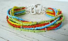 MultiColor Boho Bracelet Colorful Multi by BrownIrisCreations