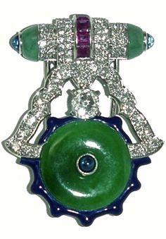 BLACK JADEITE 'LAUGHING BUDDHA' AND DIAMOND PENDANT 1 save - Google Search