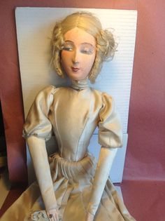 Boudoir Doll in The Lenci Style Late 1800 Early 1900 | eBay