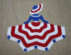 Crinoline Patriotic Girl Doily Larger Image