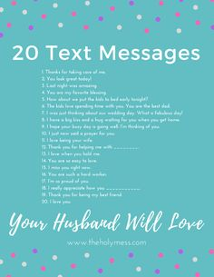 20 Text Messages Your Husband Will Love ❤ Show your husband you are thinking about him with these text message reminders. 20 text messages your husband will love. Marriage Relationship, Marriage And Family, Strong Marriage, Marriage Help, Godly Marriage, Marriage Goals, Successful Relationships, Long Distance Relationships, Fixing Marriage