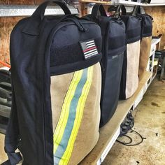 The Chief EveryDay Carry Backpack. Made from mil-spec materials and recycled bunker gear!