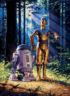 R2-D2 and C-3PO by Greg Hildebrandt & the late Tim Hildebrandt