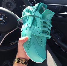 Teal Green Blue Turquoise Nike Air Huaraches Dope Trainers Sneakers Footwear