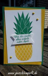 Wassermelone, für Lieblingsmenschen, Pineapple, stampin up