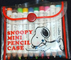 Snoopy Mini Pencil Case...I got these when I was 7...I have them 36 yrs later