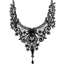 Mode Goth colliers pour les femmes 2016 beauté fille main Jewerly Retro Vintage dentelle collier collier collier tour de cou gothique