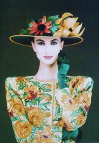Avec François Lesage, la broderie avait fait son entrée en poésie. YSL Haute Couture. 1990s. From YSL's Van Gogh inspired collection.