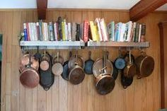 Image result for pan rack wall mounted cast iron