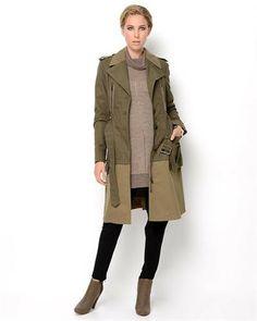 BCBGMaxazria 70% Cotton 30% Nylon Trench Coat Womens
