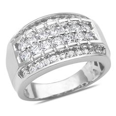 Ebay NissoniJewelry presents - Men's 2CT Diamond Ring in 14k White Gold with a Cage Back    Model Number:GR9626P-W477    http://www.ebay.com/itm/Men-s-2CT-Diamond-Ring-in-14k-White-Gold-with-a-Cage-Back/321612091380