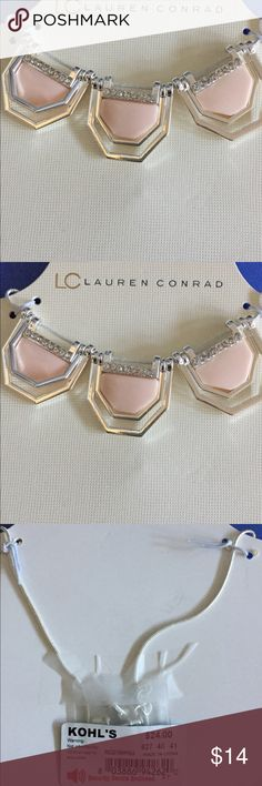 LC Lauren Conrad Elegant Necklace Pink and Silver tone Necklace LC Lauren Conrad Jewelry Necklaces