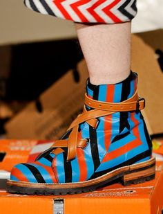 Bernhard Willhelm Shoes Fall 2012 Menswear. A big yes to quirky men's shoes!!