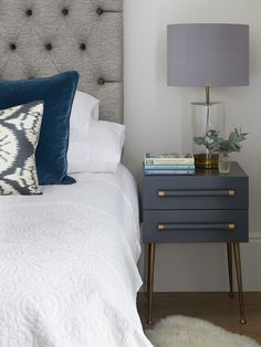 London Townhouse, Dresser As Nightstand, Bedside, My Dream Home, Master Bedroom, Rest, Interior, Table, Inspiration