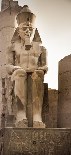 statue of Ramesis the Great at Luxor, Egypt Ancient Egyptian Art, Ancient Ruins, Ancient History, Art History, Ancient Architecture, Ancient Civilizations, Belle Photo, Archaeology, Luxor Egypt