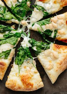 Recipe: Spinach, White Bean, and Taleggio Pizza
