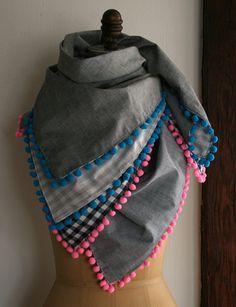 purl bee pompom scarf
