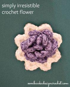 Simply Irresistible Crochet Flower – Free Crochet Pattern