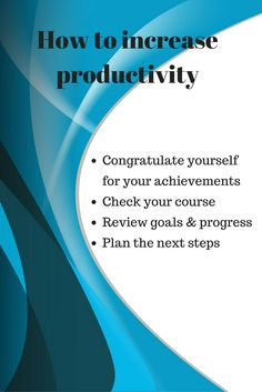 The productivity tandem: review and planning