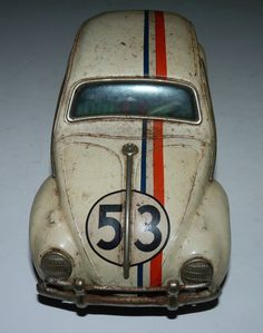 Vtg Herbie The Love Bug Walt Disney Tin Car Racing Volkswagen VW Beetle RARE | eBay