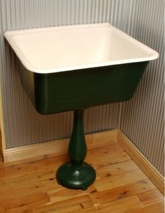 Cast Iron Pedestal Tub - Laundry Tub - Click Image to Close Laundry Tubs, Laundry Room Sink, Laundry Rooms, Cast Iron Kitchen Sinks, Cast Iron Sink, Kitchen Fixtures, Plumbing Fixtures, Glass Shower, Shower Tub