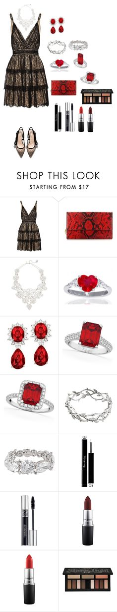 """""""Sem título #41"""" by ren-emily ❤ liked on Polyvore featuring Alice + Olivia, Alexander McQueen, Kate Spade, Allurez, Tiffany & Co., Henri Bendel, Christian Dior, MAC Cosmetics and Kat Von D"""
