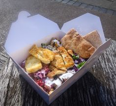 Chicken and Halloumi Salad from Savage Salads Food Stall, London
