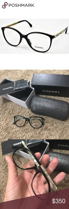 Authentic Chanel Ch3304ba C501 Black Rx 53-16-140 Chanel 3304B C501 Glasses Free Prescription Lenses, with anti-scratch and anti-reflection coating CHANEL Accessories Sunglasses