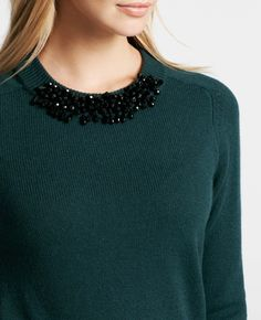Ann Taylor - AT New Arrivals - Jeweled Sweater