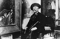 Henri Rousseau in his Studio 1904