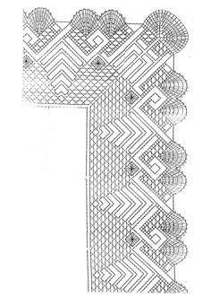 esquema o picado de puntilla número 2 de encaje bolillos