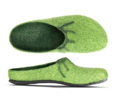 Magicfelt Felt Slippers in Doubleface Look with Felt Sole Green Felted Slippers, Red Felt, Mephisto, Wool Felt, Casual Looks, Lana, Green Fashion, Women's Shoes, Ebay