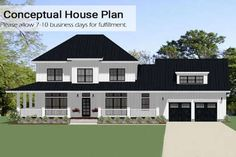 Tour the that has 4 bedrooms, 3 full baths and 1 half bath from House Plans and More. See highlights for Plan House Plans And More, Best House Plans, Dream House Plans, Farmhouse Floor Plans, Farmhouse Style, Mother In Law Apartment, 4 Bedroom House Plans, French Country House Plans, Garage