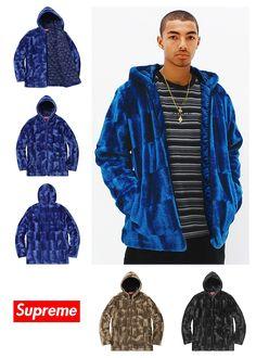 SUPREME Faux Fur Hooded Zip Jacket