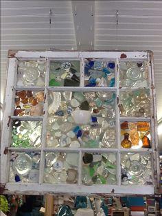 Sea glass/pottery window from the beach At Wellfleet marine.com