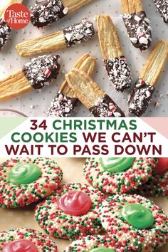 Mix up your holiday dessert tray with some seriously cool Christmas cookies! These creative cookies are guaranteed to be showstoppers. Candy Cookies, Cookie Desserts, Yummy Cookies, Holiday Cookies, Holiday Baking, Christmas Desserts, Holiday Treats, Holiday Recipes, Recipes For Christmas Cookies