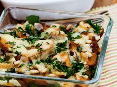 Kumara and spinach bake
