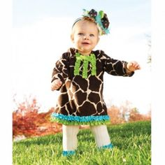 Love this giraffe print outfit