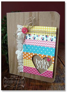 Love the faux washi look done with designer series paper and the ruffle from the paper doilies!