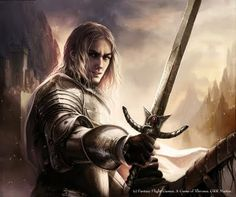 Here is the original Magali Villeneuve artwork of Jaime lannister