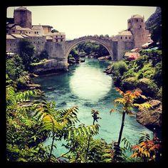 Iconic Stari Most (Old Bridge) at Mostar, Bosnia & Herzegovina #travel #budgettravel #europe  #bridge #water #iconic #famous #bosnia #mostar - @shinyshoestring- #webstagram