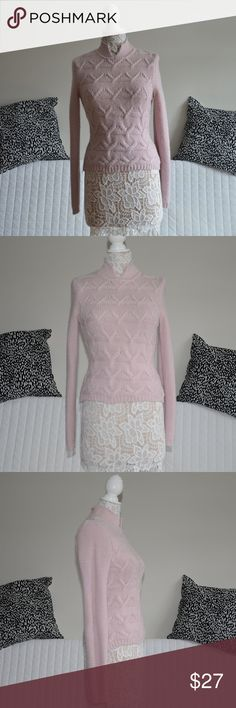 """Sela Winter Line Pink Knitted Sweater Pink Sweater by Sela / Size S  Used condition. Item may show some wear.  Length approx. 22.5"""" Bust (pit to pit) approx. 16""""  Brand: SELA Collection: Winter Line Color: Light Pink / Pinkish Knit style: Medium  My items come from a clean, pet-free, smoke-free home. Please make any offers through the offer button!  Keywords: pullover, Sela Sweaters"""