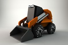 Conceptual design for a futuristic skid steer loader.