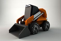 Conceptual design for a futuristic skid steer loader.